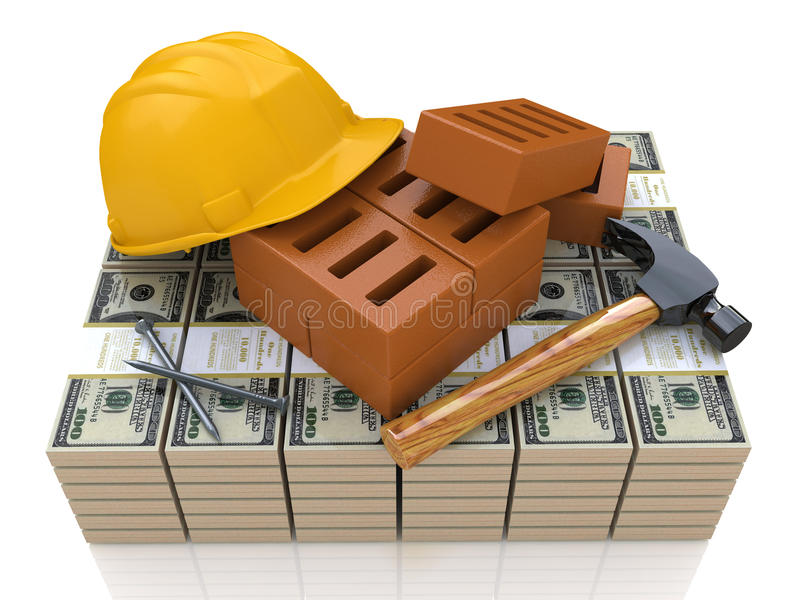 Download Investment In Construction Business Stock Illustration - Illustration of hammer, green: 30253188
