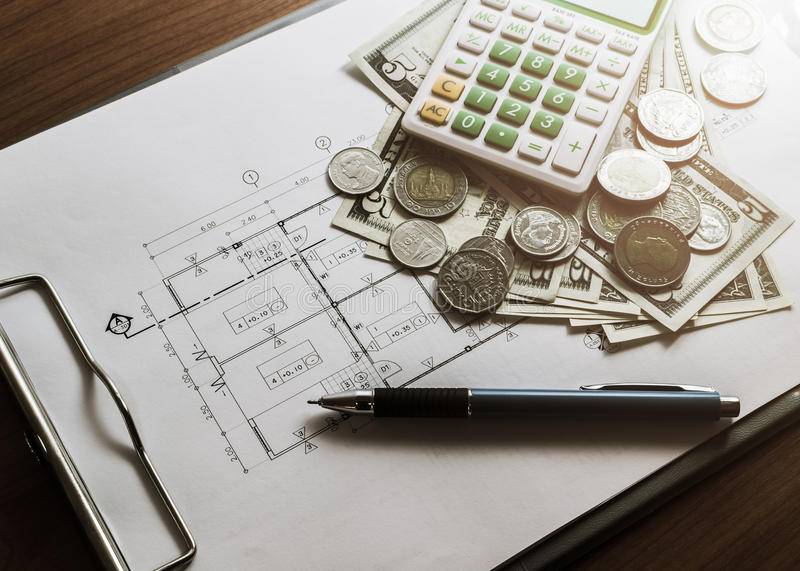 Investment for construction with limit budget stock image