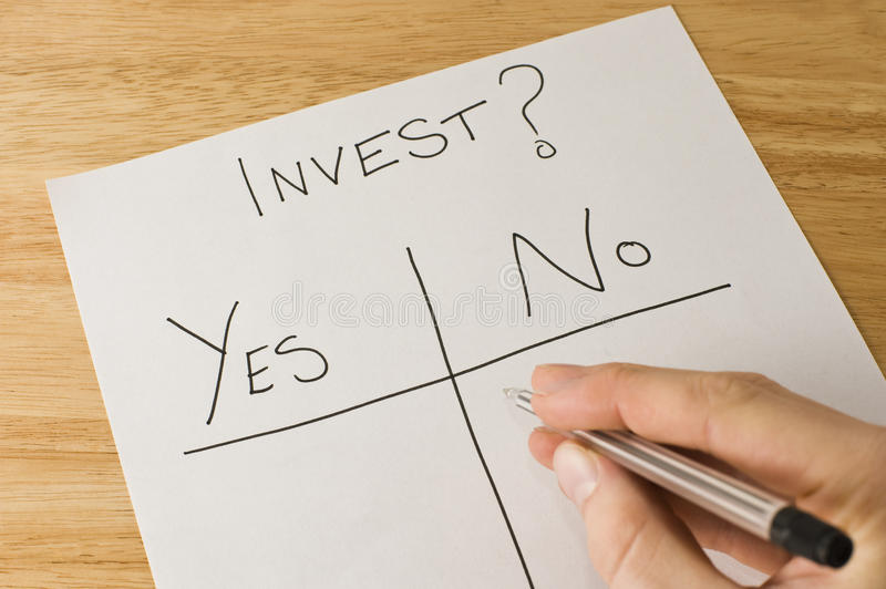 Investment Decision Stock Image