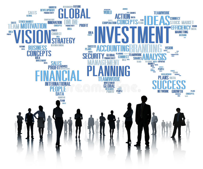 Investment Global Business Profit Banking Budget Concept.  royalty free stock photos