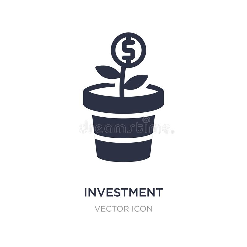 Investment icon on white background. Simple element illustration from Digital economy concept. Investment sign icon symbol design royalty free illustration