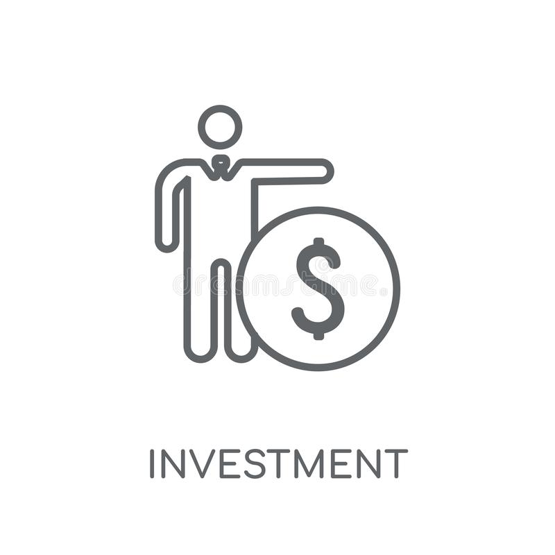 Investment insurance linear icon. Modern outline Investment insu stock illustration