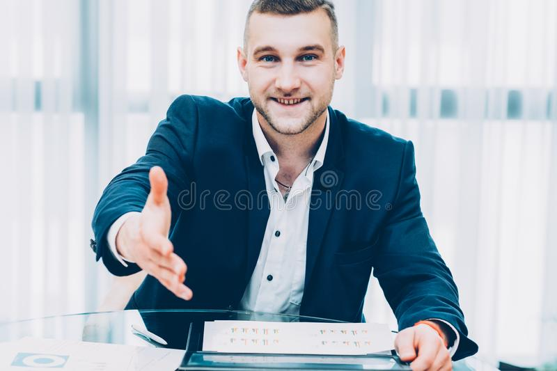 Investment partnership successful business man stock photos