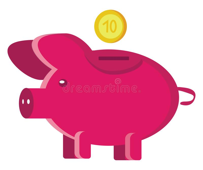 Investment with piggy bank clipart vector or color illustration royalty free illustration