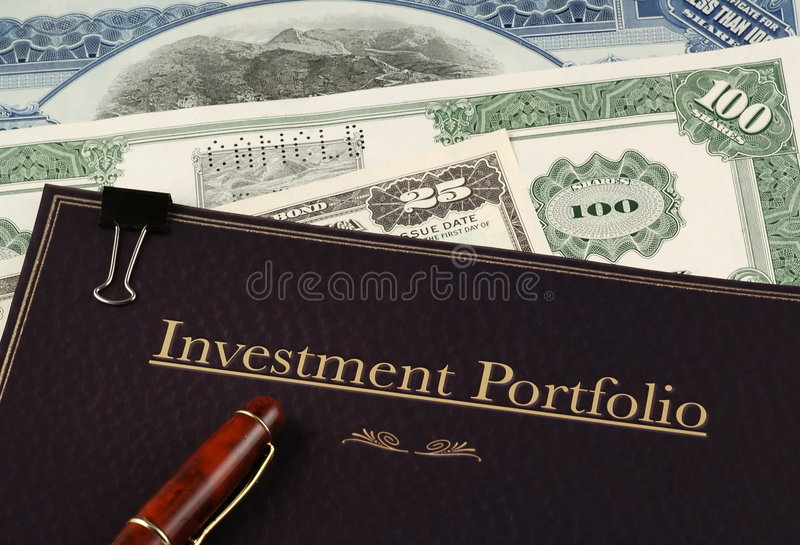 Investment portfolio royalty free stock images