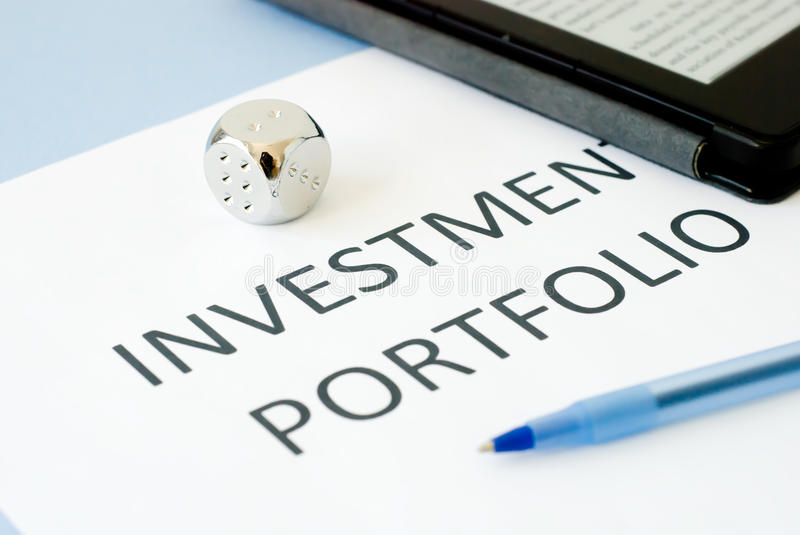 Investment portfolio stock photos