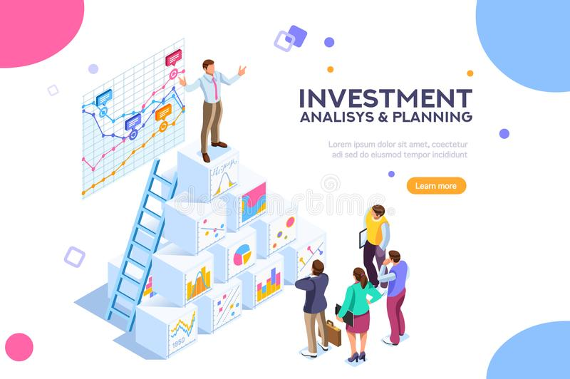 Virtual Finance Investment Contemporary Market Concep royalty free illustration