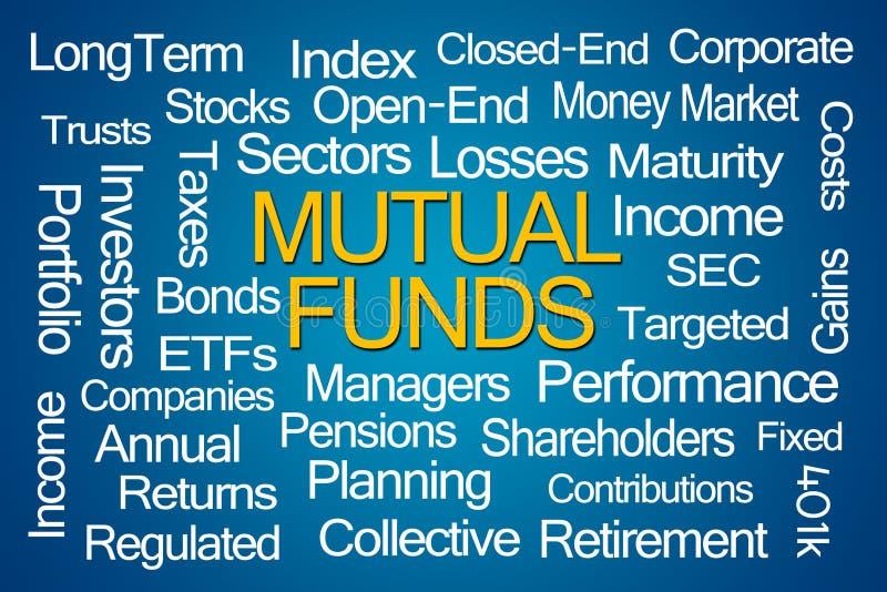 Investmentfonds-Wort-Wolke stock abbildung