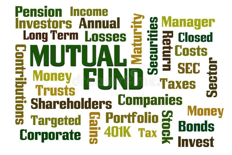 Investmentfonds-Wort-Wolke lizenzfreie abbildung