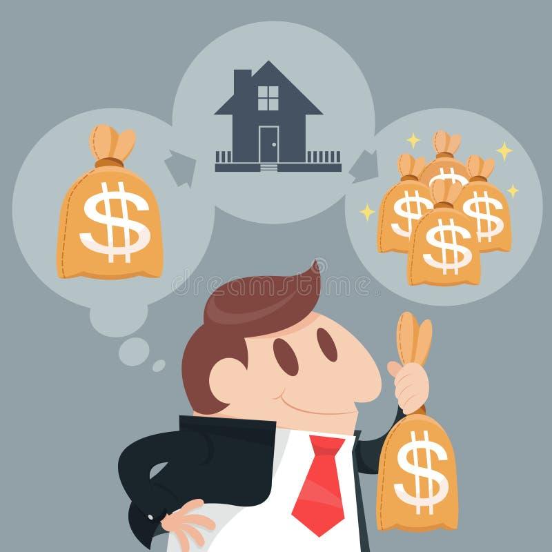 Investor royalty free illustration