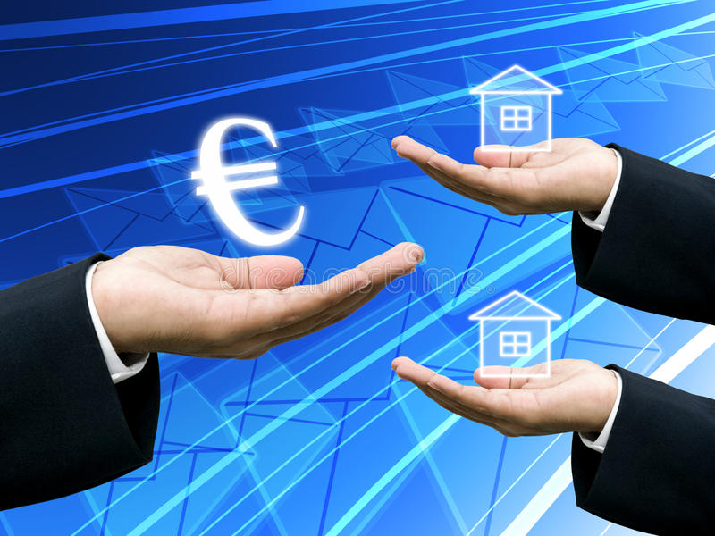 Investor hold the Euro money for building industry. Investor hold the Euro money for invest in building industry royalty free stock image