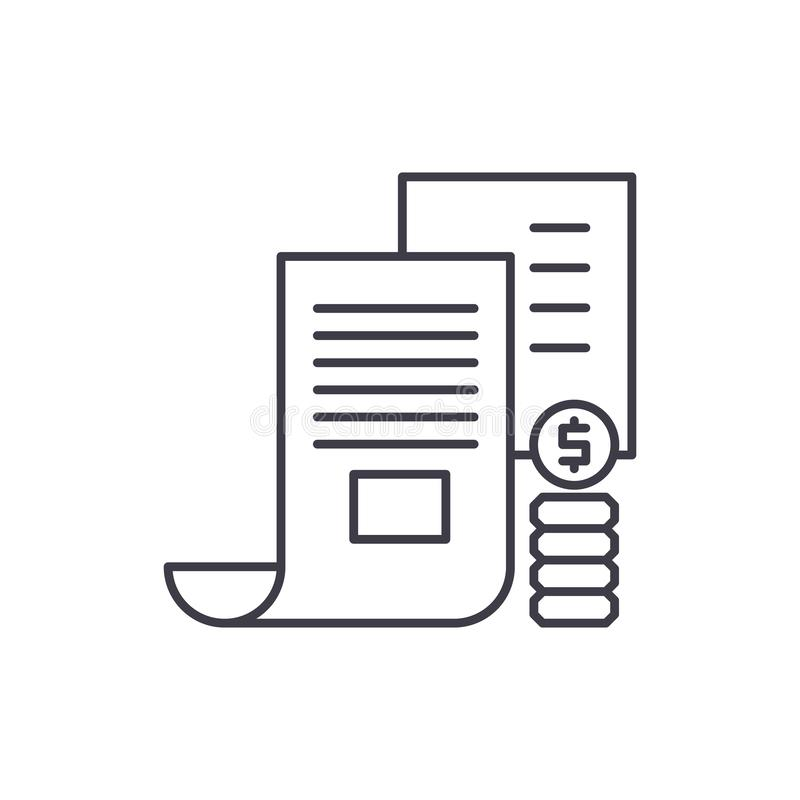 Investor memorandum line icon concept. Investor memorandum vector linear illustration, symbol, sign. Investor memorandum line icon concept. Investor memorandum royalty free illustration