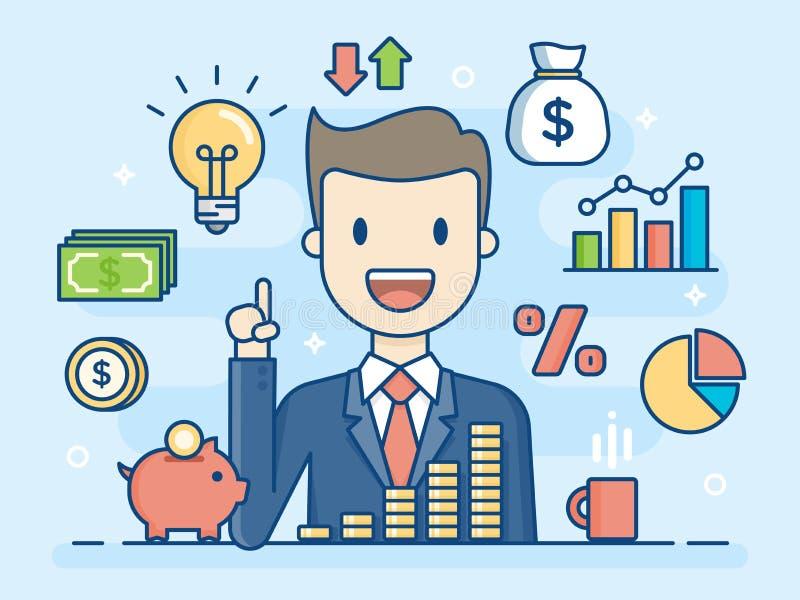 Investor. Smart Investment. Business Concept Illustration. royalty free illustration