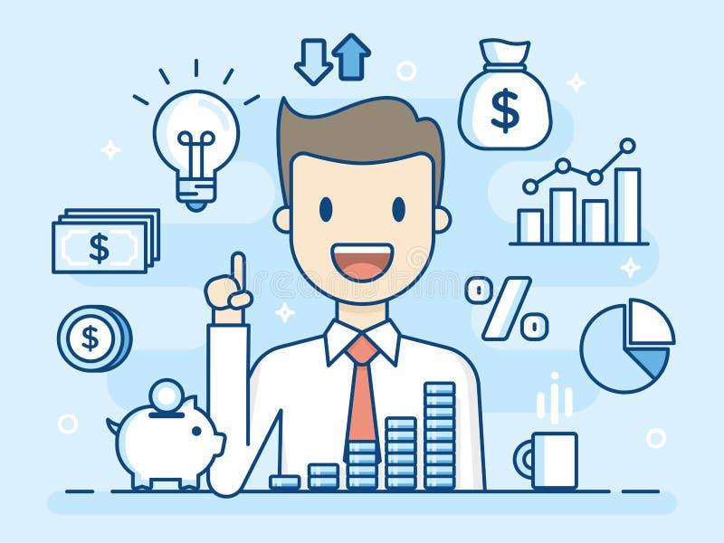 Investor. Smart Investment. Business Concept Illustration. vector illustration