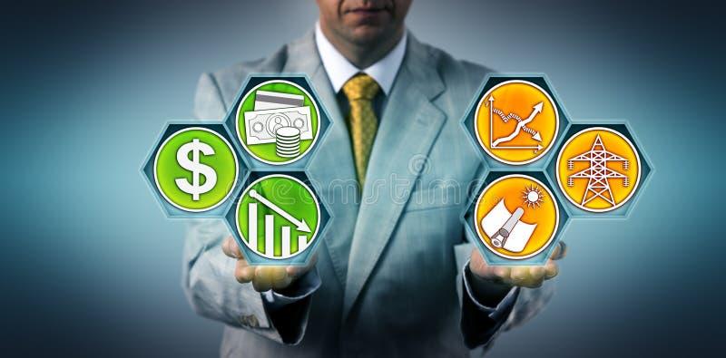 Investor-Vorhersageeffizienzsteigerung von CSP lizenzfreie stockbilder