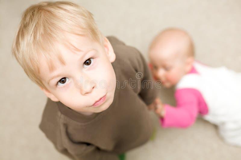 invidia s dei bambini fotografia stock