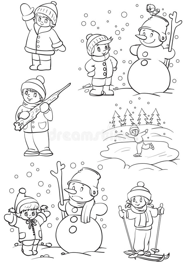 Invierno stock de ilustración