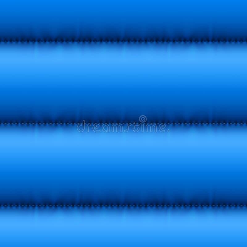 Invierno acolchado abajo de fondo inconsútil azul de la chaqueta Textura caliente del vector de la cazadora Terraplén del context ilustración del vector