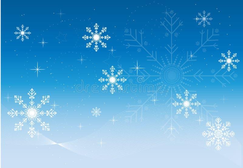 Invierno azul stock de ilustración