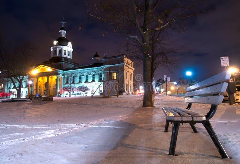 Invierno de ayuntamiento Kingston Ontario fotos de archivo libres de regalías