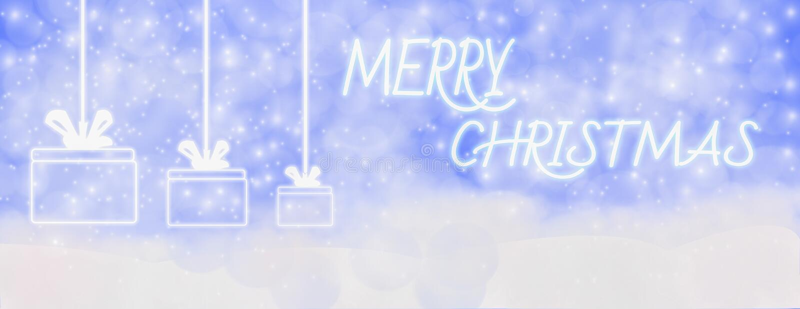 Invierno de la Feliz Navidad al aire libre con los copos de nieve que caen, y caída stock de ilustración