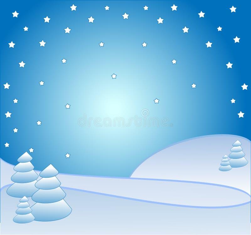 Invierno de la noche ilustración del vector