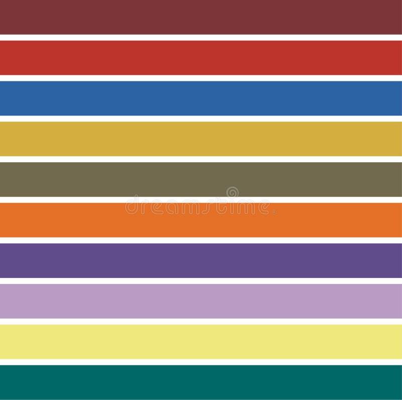 Invierno 2019 de los colores del top 10 Colores de moda de una estación libre illustration