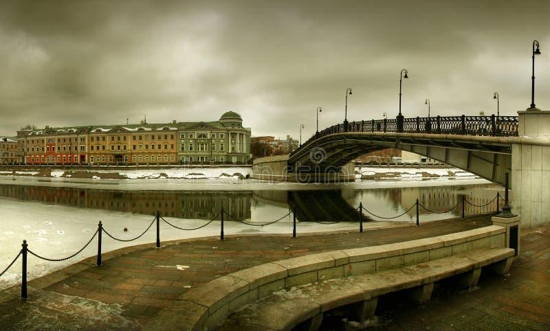 Invierno de Moscú (Rusia) foto de archivo libre de regalías
