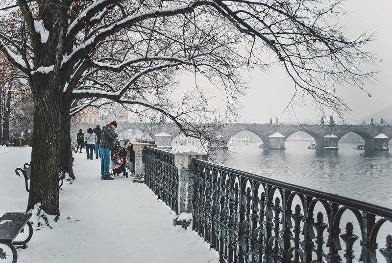 Invierno de Praga imagen de archivo