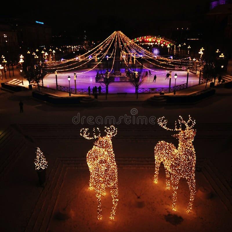 Invierno de Suecia Estocolmo de la Navidad foto de archivo