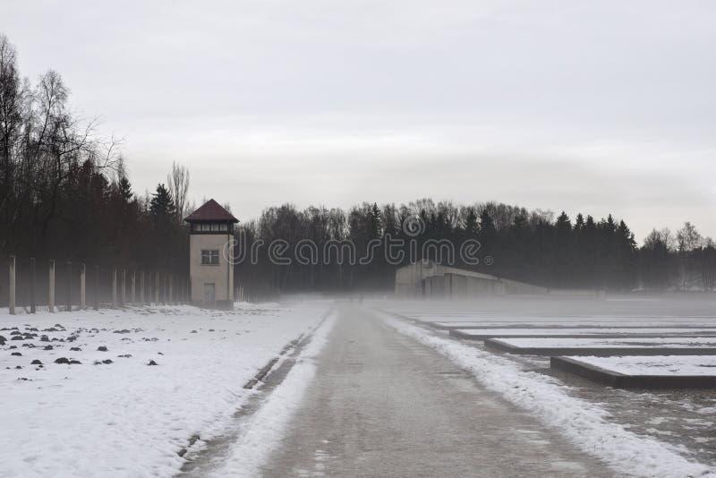 Invierno del dachau del campo de concentración fotografía de archivo libre de regalías