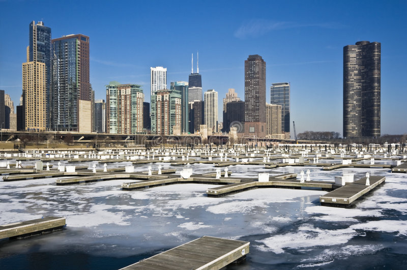 Invierno en Chicago imagen de archivo