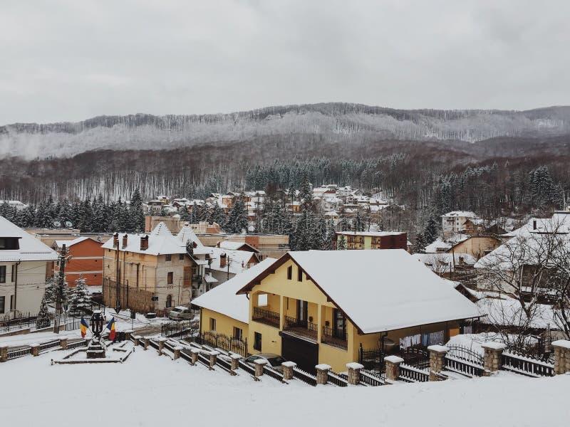 Invierno en ciudad fotografía de archivo libre de regalías