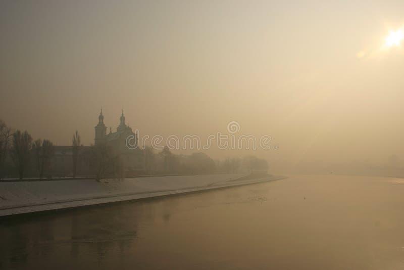 Invierno en Cracovia fotos de archivo libres de regalías
