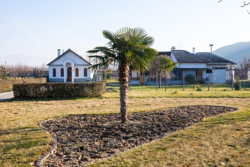 Invierno en el área de Rupite en Bulgaria imagen de archivo
