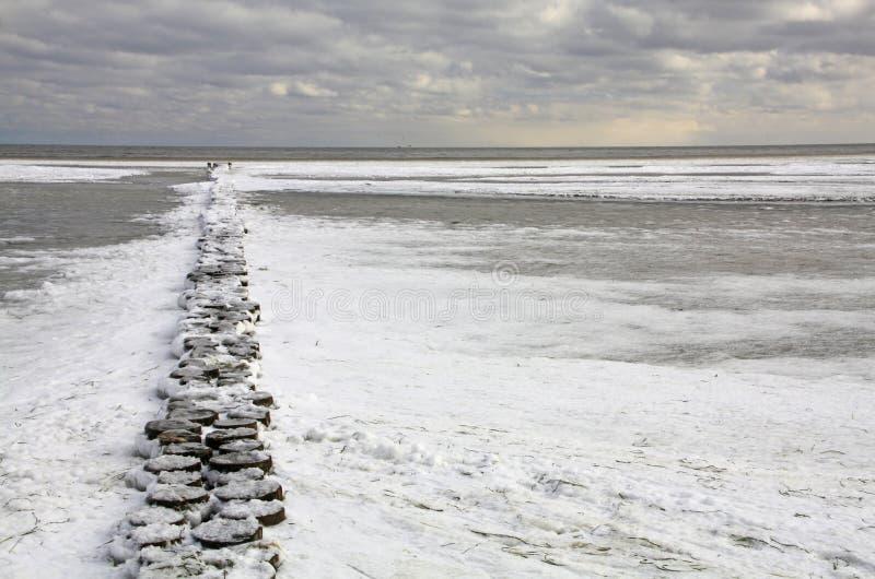 Invierno en el mar Báltico foto de archivo