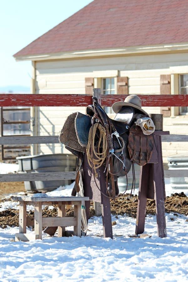 Invierno en el rancho imagenes de archivo