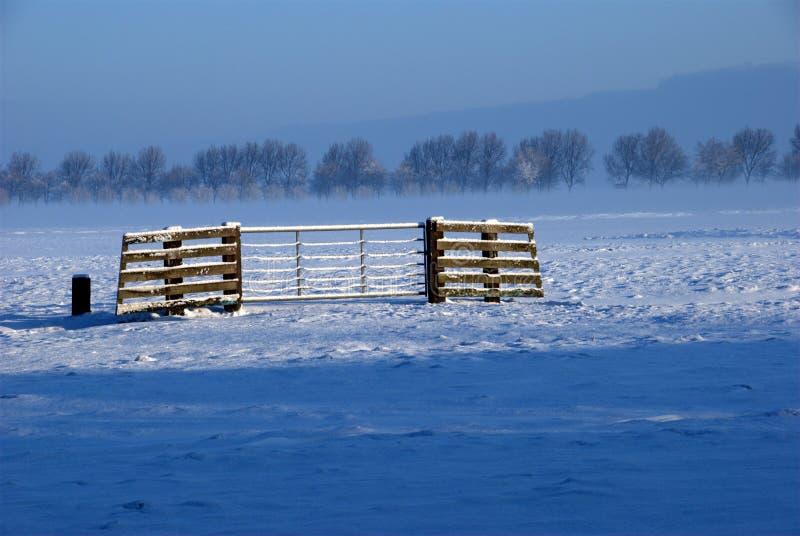 Invierno en Holanda fotografía de archivo