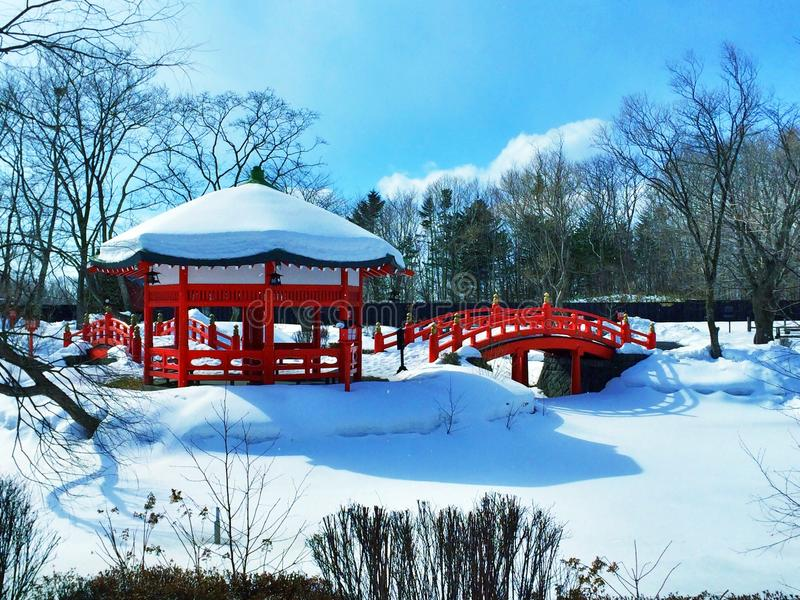 Invierno en Japón fotografía de archivo
