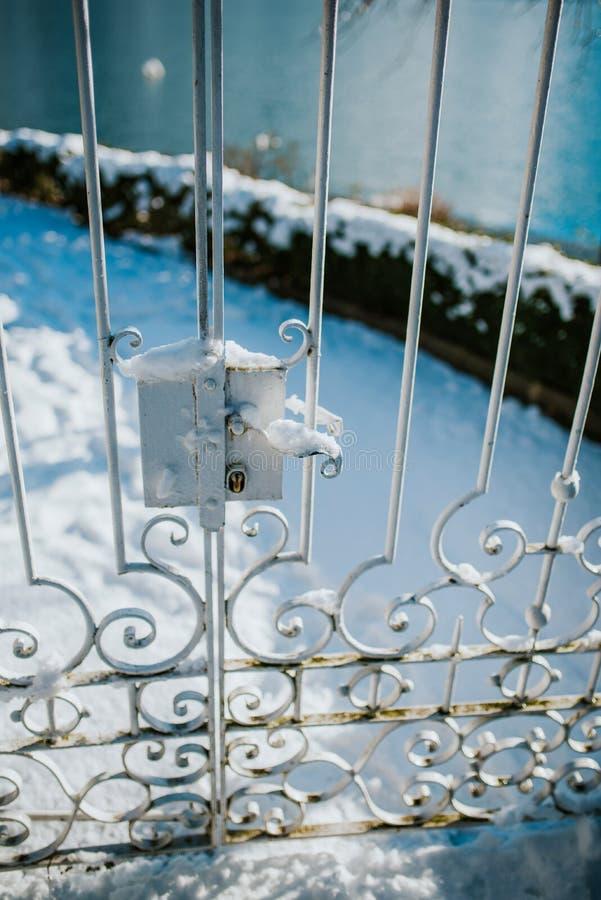 Invierno en jardín fotos de archivo
