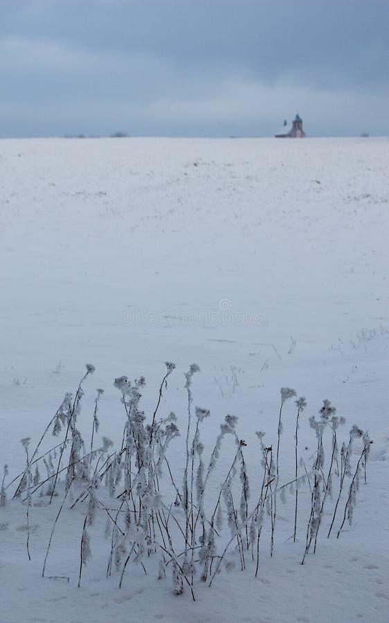 Invierno en Jivova fotografía de archivo