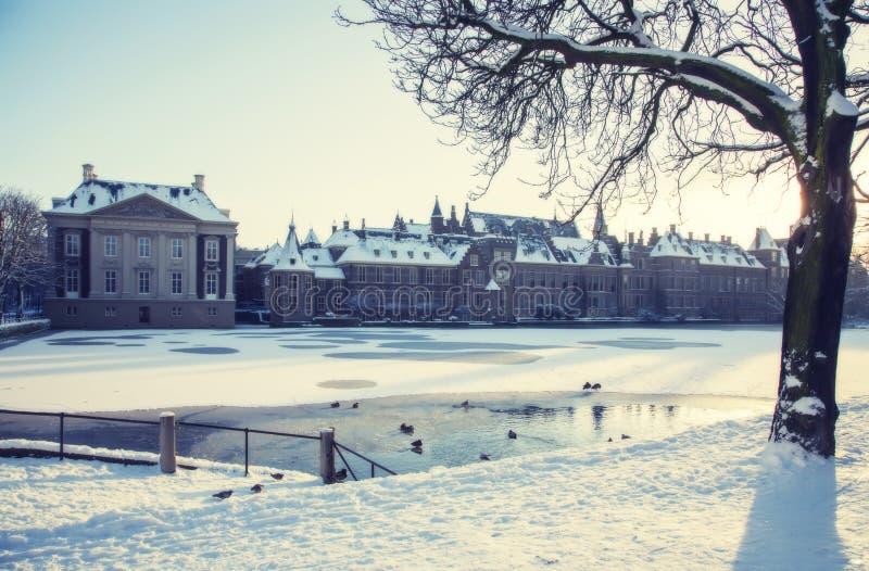 Invierno en La Haya foto de archivo