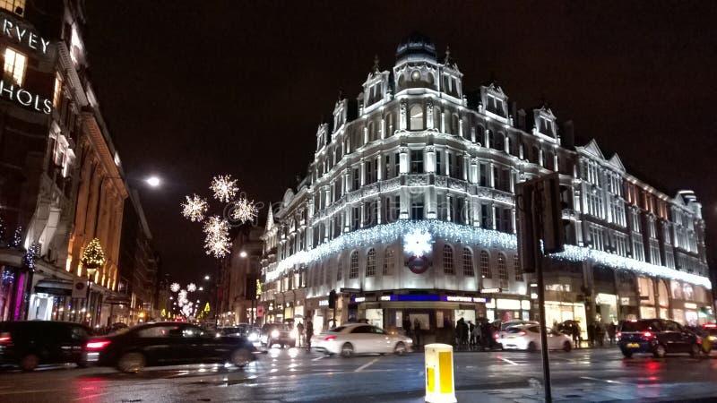 Invierno en la Navidad central de Londres fotografía de archivo