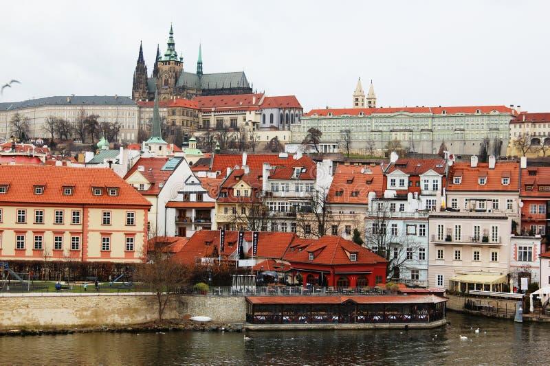 Invierno en la Praga fotografía de archivo