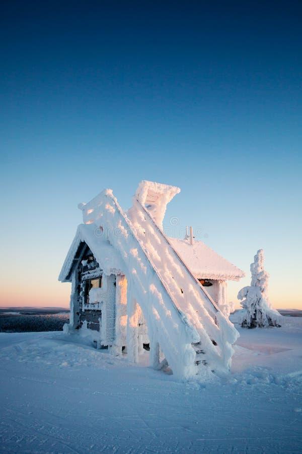 Invierno en Laponia Finlandia imagen de archivo
