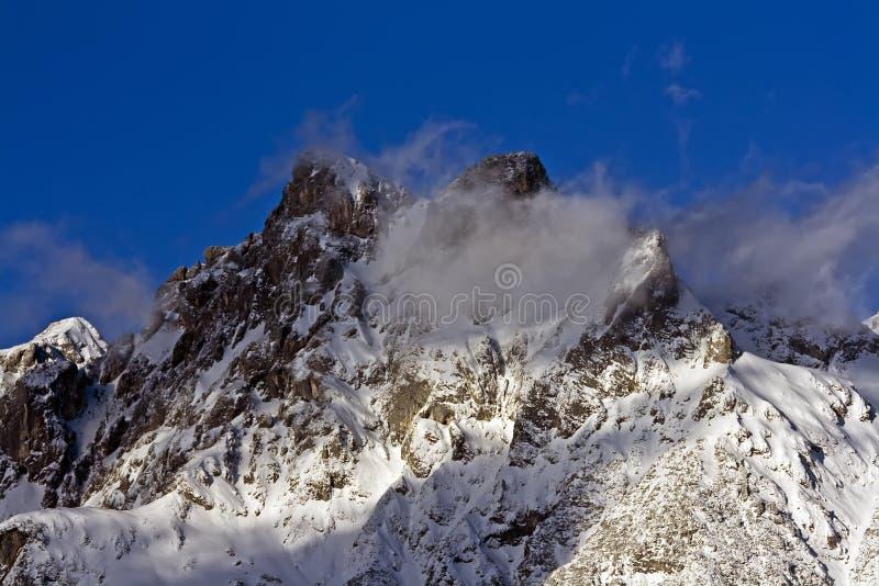 Invierno en montaña fotos de archivo libres de regalías