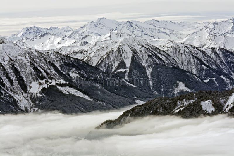 Invierno en montaña fotografía de archivo libre de regalías