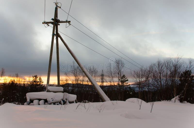 Invierno en Murmansk fotografía de archivo