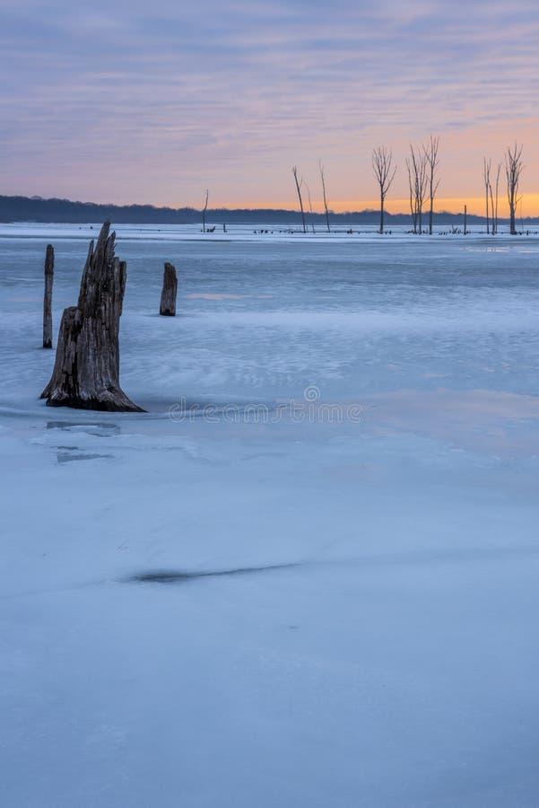 Invierno en New Jersey fotografía de archivo