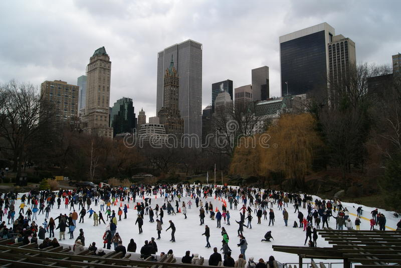 Invierno en Nueva York imagenes de archivo